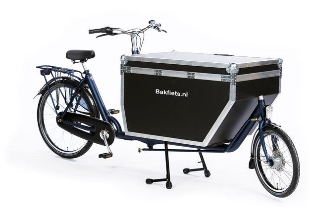 Bakfiets Flightcase op Cargo long