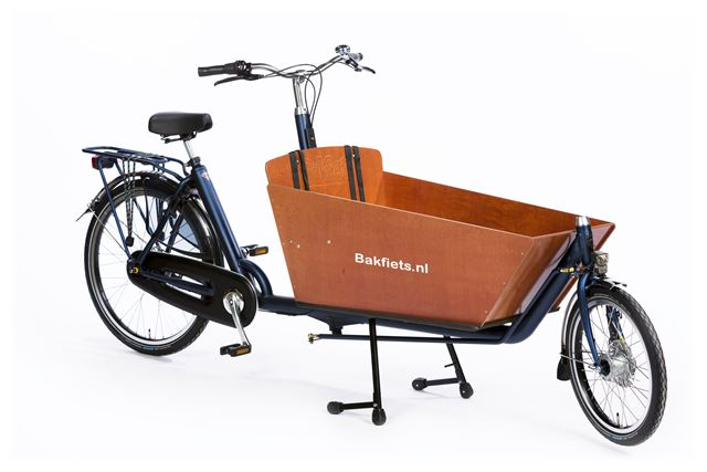 Cargo classic long Matblauw Bakfiets