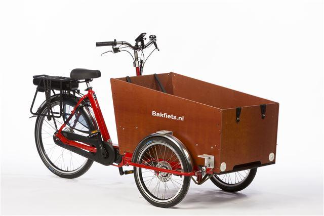 Cargotrike Classic Wide Steps NNi Nuvinci Rood - electrische bakfiets - met Shimano Steps - middenmotor - met automatisch schakelen