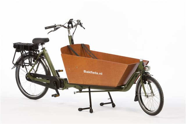 Cargobike Long Classic Steps NNi Nuvinci Matzwart - electrische bakfiets - met Shimano Steps - middenmotor